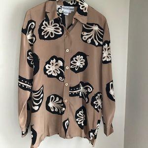 Diane Von Furstenburg Silk Blouse L